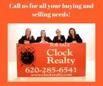 Clock Realty & Insurance Del Fischer, Owner/Broker logo