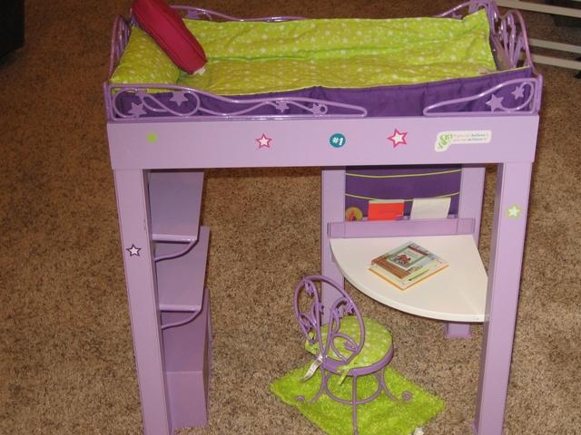 American Girl Doll Mckenna Loft Bed Accessories Lavender Nex