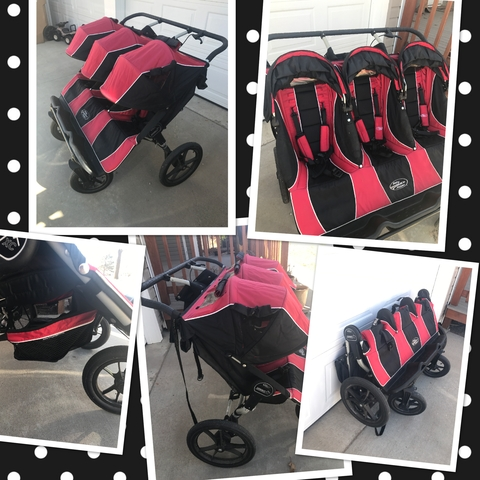Baby Jogger Triple Stroller Summit Xc Red