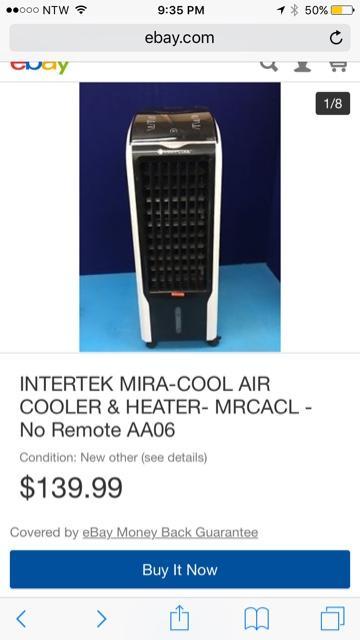 portable air cooler heater nex tech classifieds