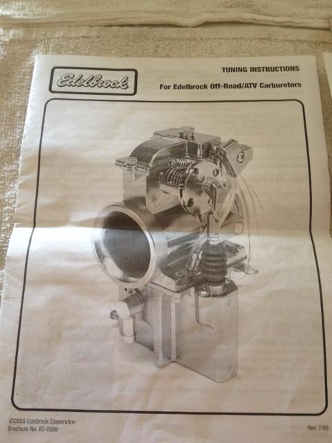 Edelbrock Carburetor Yamaha YFZ 450