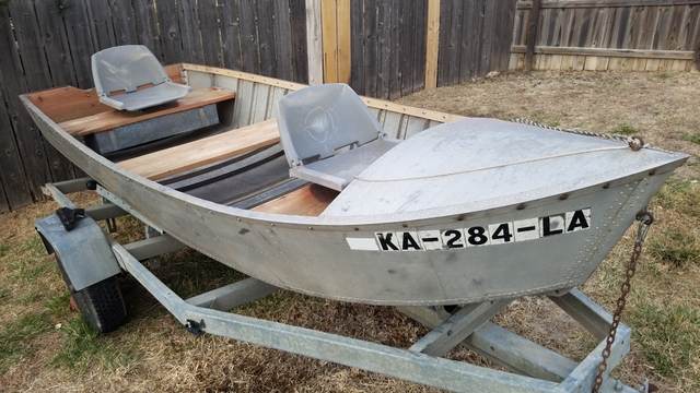 1960s Aluminum 14ft Fishing Boat With Trailer Nex Tech Classifieds