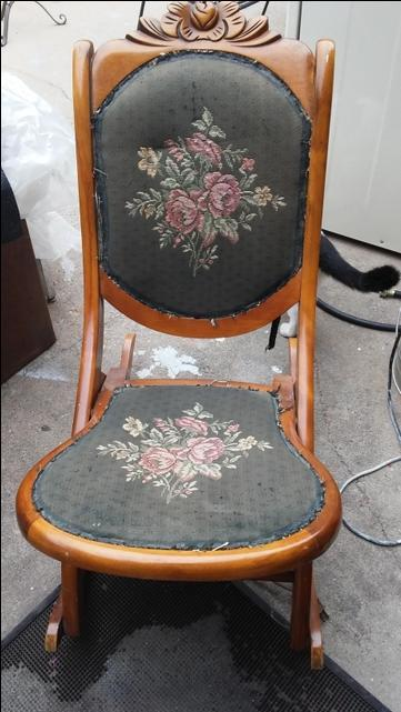 Antique Fold Up Rocking Chair Nex