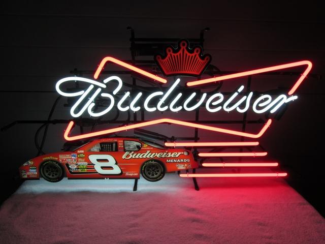 SOLD - MERRY CHRISTMAS Budweiser Dale Earnhardt Jr  8 Neon $200 00