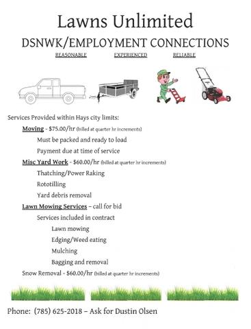Moving Lawn Mowing Yard Work Nex Tech Classifieds