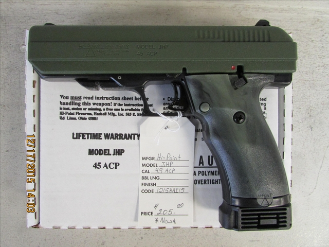 Hi-Point OD Green JHP  45 ACP Pistol *Brand New*