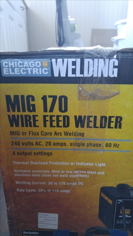 SOLD - Harbor Freight Chicago Electric MIG 170 Welder