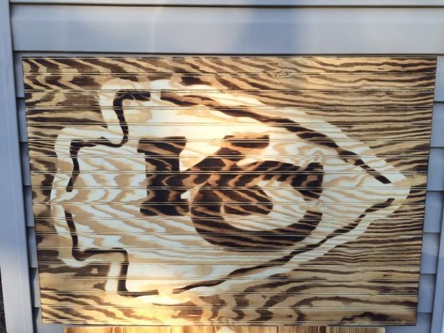 Kc Chiefs Arrowhead Burnt Wood Sign Nex Tech Classifieds