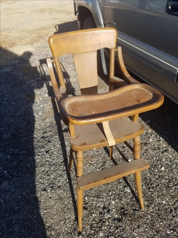 Old Wooden High Chair