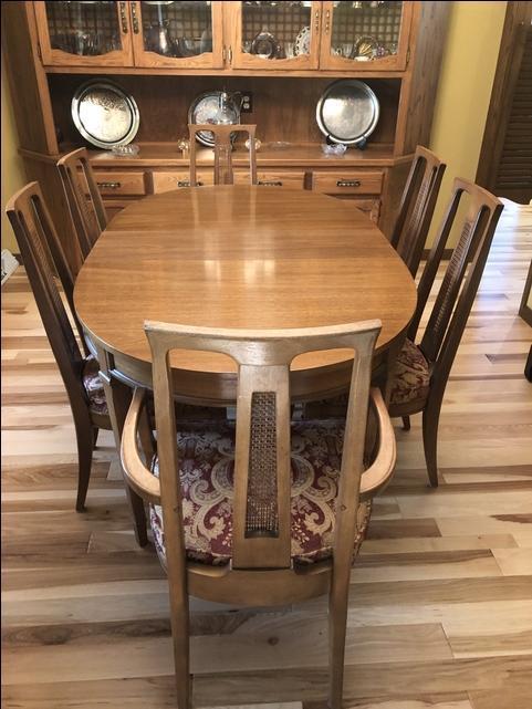 Vintage Oak Dining Room Table 6, Vintage Oak Dining Room Set