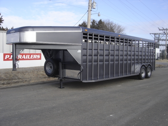 New 6 U0026 39 8 U0026quot  X 24 Ft Calico Stock Trailer