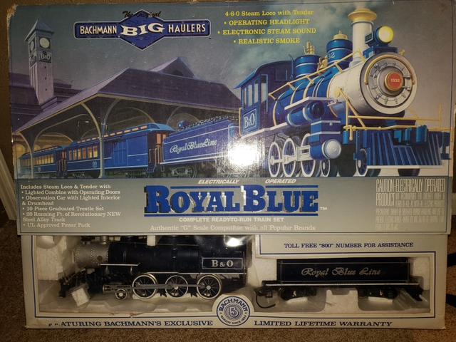 Bachmann Big Haulers G Scale Royal Blue Train Set 90016 4-6-