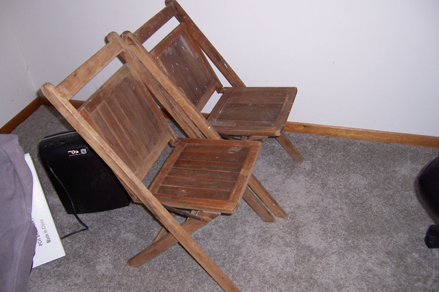Vintage Wooden Folding Chairs 1500 Each