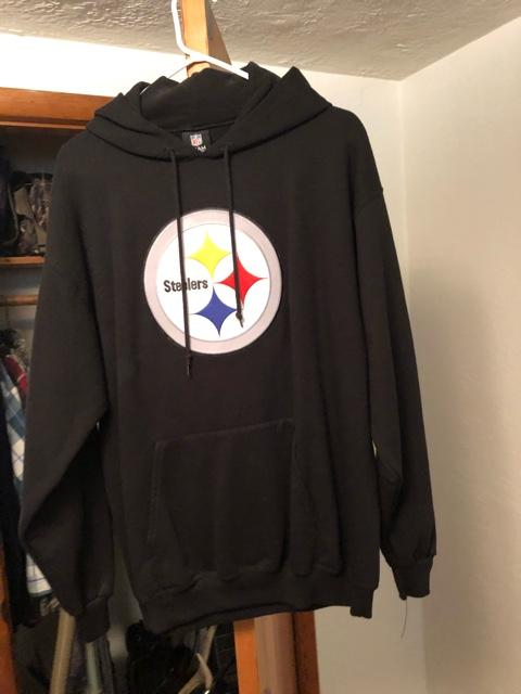 new arrivals 74214 fe651 Mens large Steelers hoodie