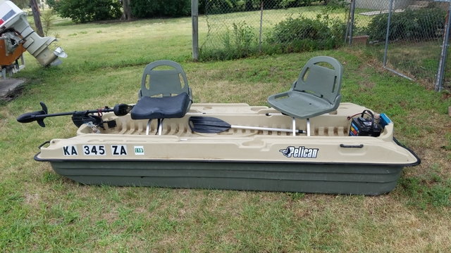 Sold 10ft Pelican Bass Raider Boat