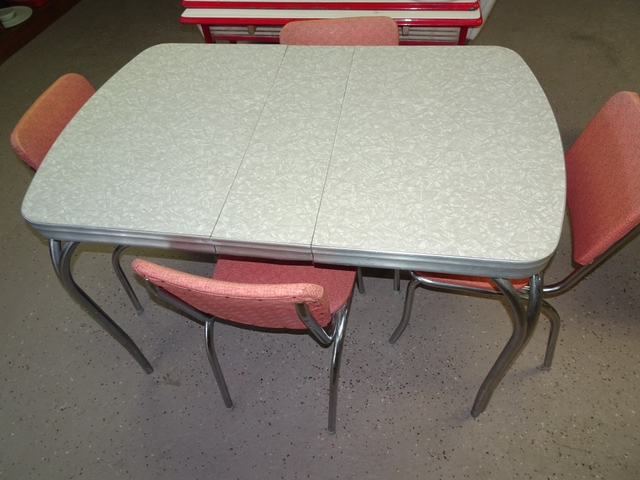 Antique 1950s Ice Formica Kitchen Table With Chairs Nex Tech Classifieds