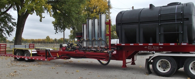 JD Skiles Pit Stop Sprayer Trailer and Tender Trailers