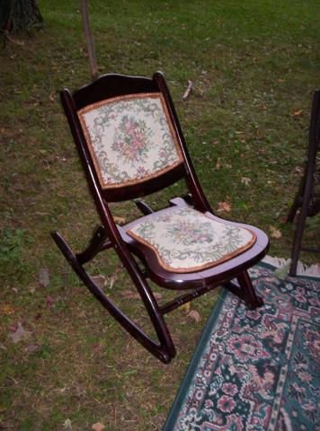 Antique Folding Rocking Chair Replica