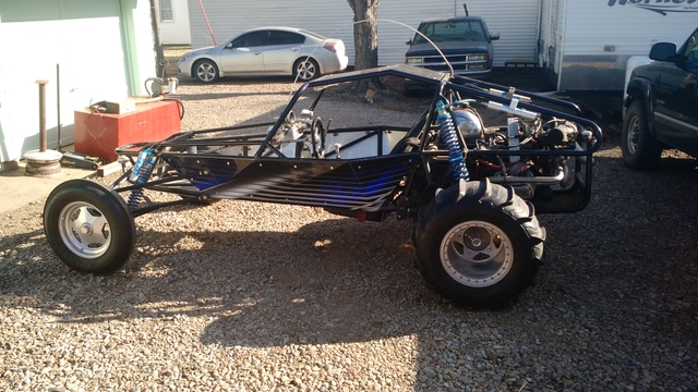 Mid travel dune buggy sand rail