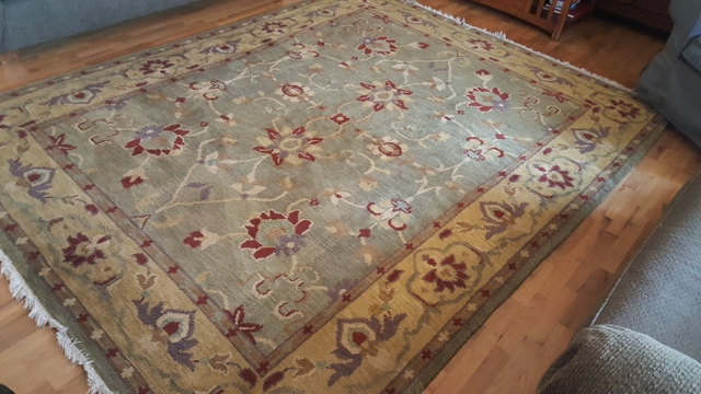 Sold Pottery Barn Hand Knotted Wool Daria Rug 8 X 10