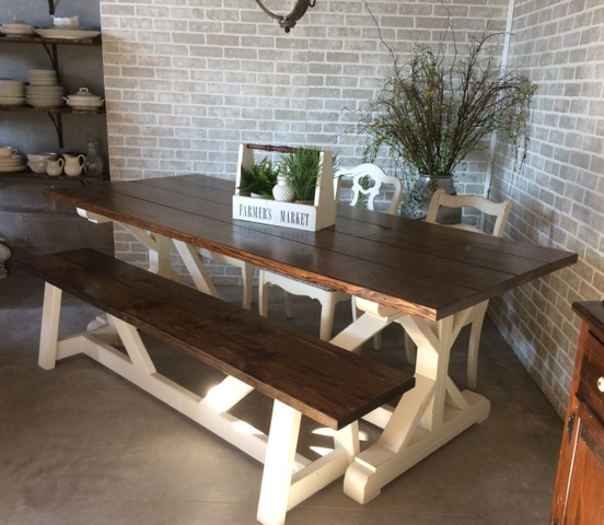 Farm Style Tables And Benches Nex