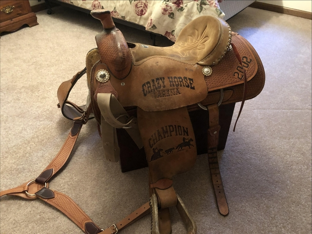 SOLD - Double J Roping Saddle