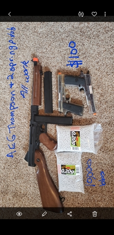 Used airsoft guns