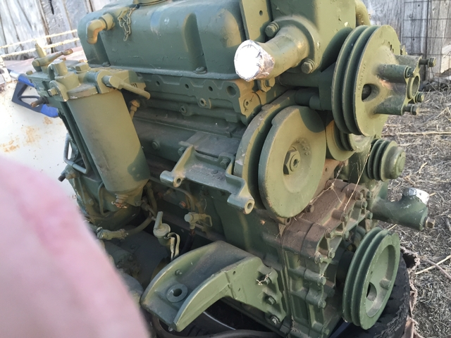 SOLD - 3-53 Detroit Diesel engine with GM bell housing