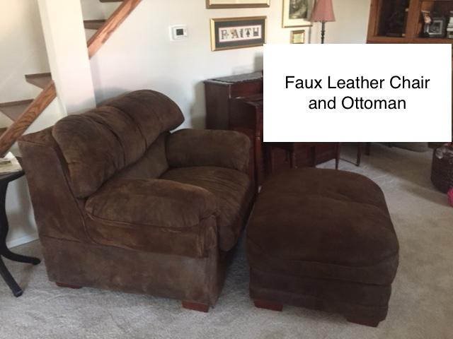 Astonishing Faux Leather Chair And Ottoman Beatyapartments Chair Design Images Beatyapartmentscom