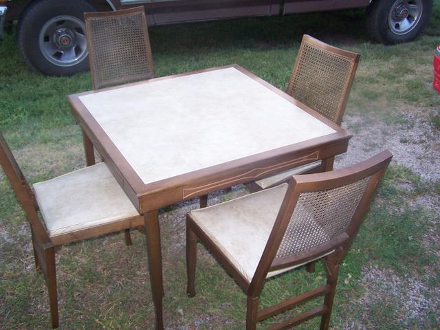 Prime Sold 1961 Leg O Matic Folding Table And 4 Matching Chairs Inzonedesignstudio Interior Chair Design Inzonedesignstudiocom