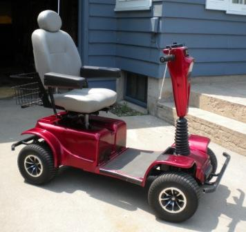 Used Mobility Scooters For Sale >> 4 Wheel Wrangler Pride Mobility Scooter Like New Price Red Nex