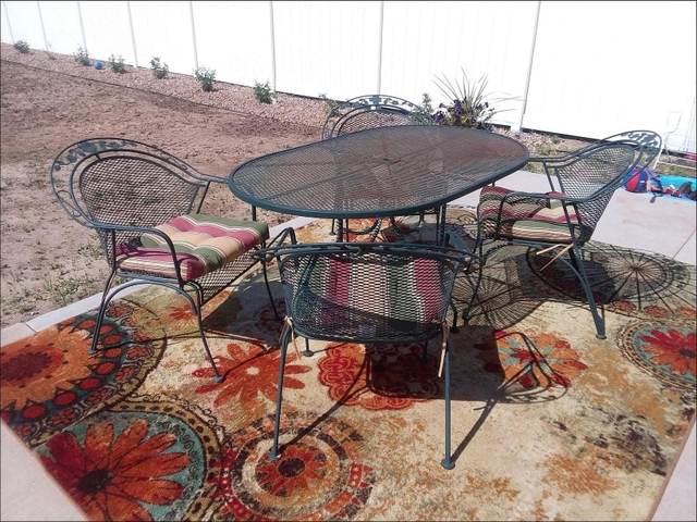 Solid Heavy Duty Rod Iron Patio Furniture Set With Cushions Nex