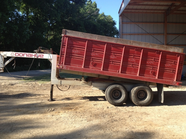 Donahue Dump Trailer with grain end gate