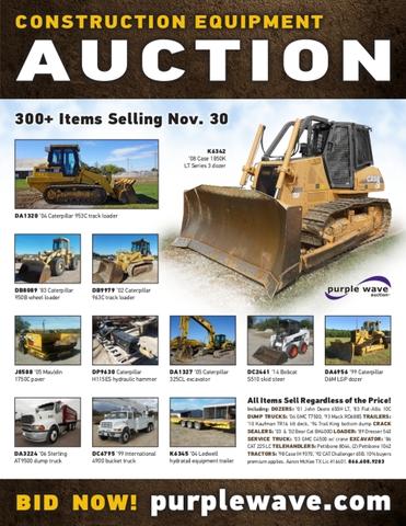 November 30 construction equipment auction - Nex-Tech