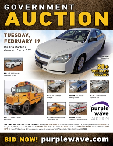 February 19 government auction - Nex-Tech Classifieds