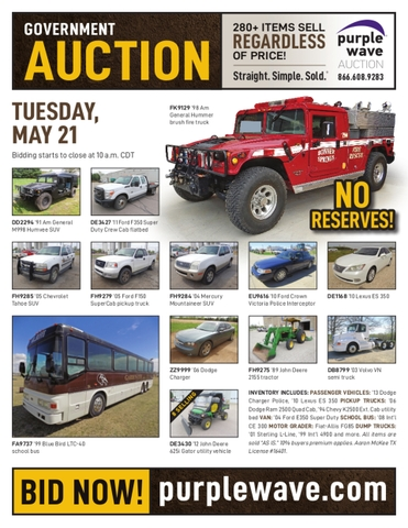 May 21 government auction - Nex-Tech Classifieds