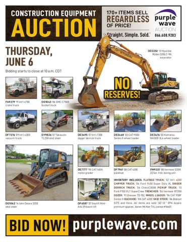 June 6 construction equipment auction - Nex-Tech Classifieds