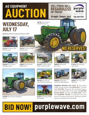 July 17 ag equipment auction - DiscoverStuff