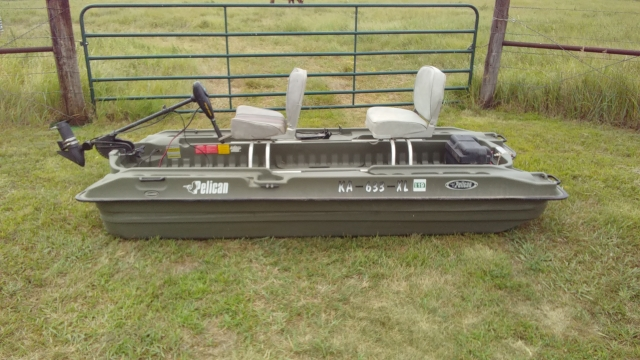 Pelican 10' Two Person Bass Boat
