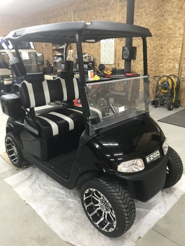 SUMMER SPECIAL! BLACK EZGO RXV GOLF CART! READY TO GOLF!
