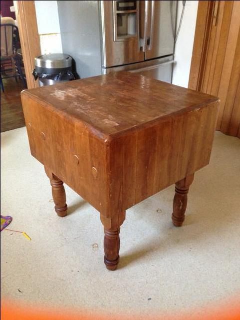 Antique Butcher Block Over 100yrs Old