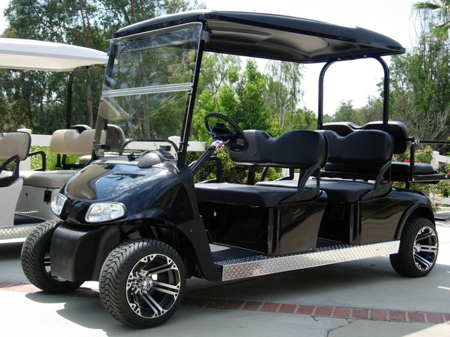 golf cart stretched six 6 seat limo shuttle seater - Nex-Tech