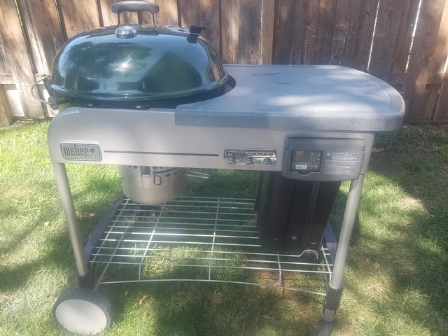 Sold Weber Performer Deluxe Charcoal Grill Propane Start W Extras