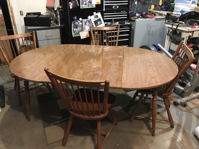 Antique Ethan Allen Dining Room Table And Chairs