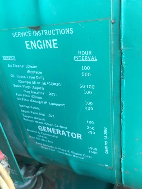 Onan 4 0 Rv Genset Or Generator