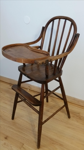 Antique Wooden High Chair Nex Tech
