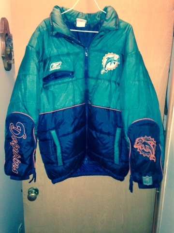 online retailer 0c6bf a03a9 Women's NFL MIAMI DOLPHINS coat/jacket