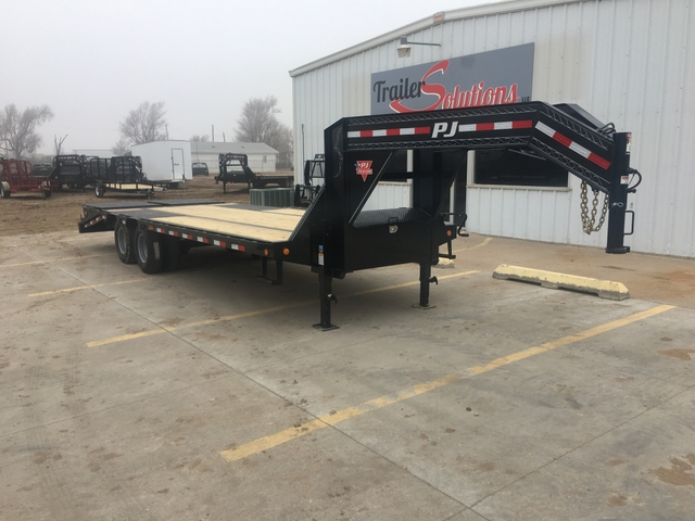 Flat Deck Trailer >> Sold 2019 Pj 25 X 102 Low Pro Flat Deck Trailer With Duals