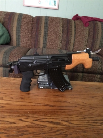 SOLD - Micro Draco AK47 pistol with Arm Stabilizer Brace