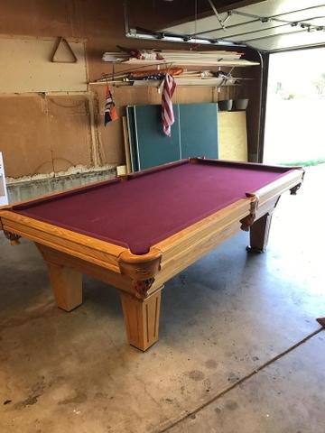 Full Sized Oak Pool Table Nex Tech Classifieds